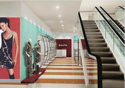 直供商场不锈钢服装展示架高端时尚展示架墙架弧形架