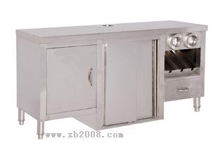 东莞餐厅出品设备不锈钢厨具蒸霸汽水机工作台