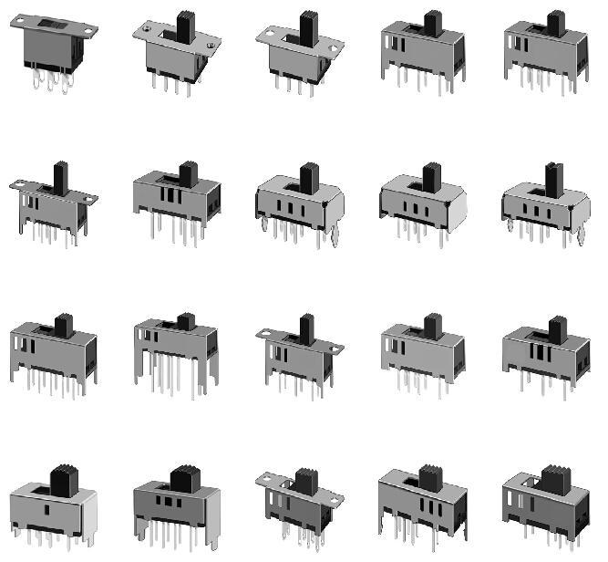 厂家直销 小电流拨动开关 SS竖柄 SK横柄 自动化高品质拨动开关