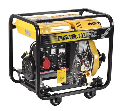 一般的柴油发电机组的工作原理是在柴油机汽缸内,经过空气