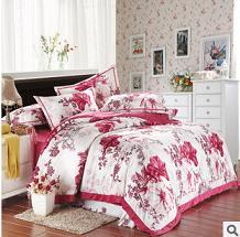 菲尼诗家纺 特价批发团购床上用品 加厚保暖超柔印花天鹅绒四件套