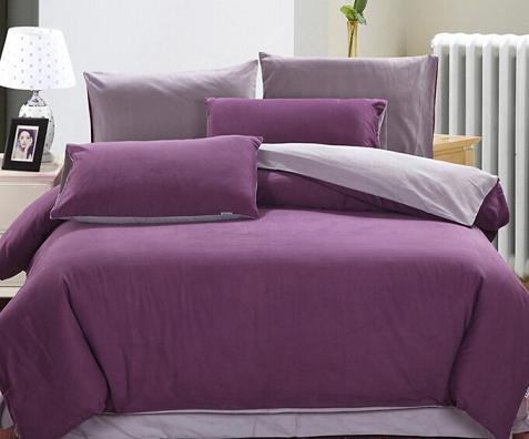特价批发团购床上用品 纯棉活性床笠式纯色磨毛四件套 多色可选