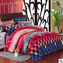 秋冬新品 全棉活性印花磨毛四件套 批发团购床上用品 多色可选