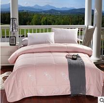 家纺厂家直销 床上用品加厚保暖全棉印花羊毛被 批发团购