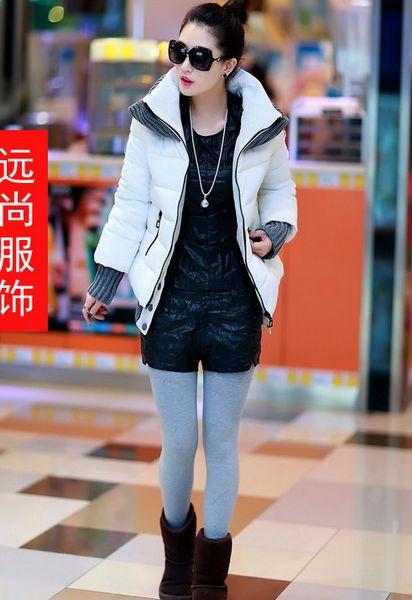 2014秋冬新款大码女装韩版时尚加厚棉服女外套