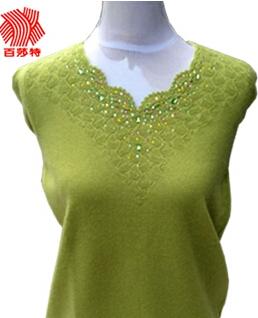鄂尔多斯百莎特2014女士羊绒衫 正品包邮 定制羊绒针织衫 V领