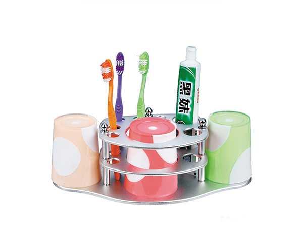 套装牙刷架批发-牙膏架供应商-太空铝杯架套装-彩塘镇迪龙雅不锈钢