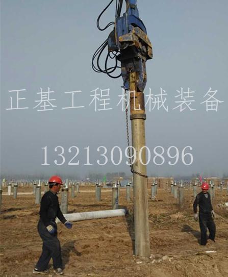 乌鲁木齐太阳能光伏电站使用打桩锤|振动锤