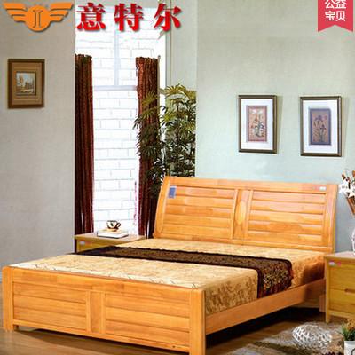 供应 宜家简易现代中式实木床