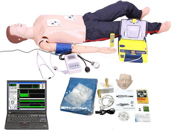 高级全功能急救训练模拟人(心肺复苏与血压测量AED除颤仪)