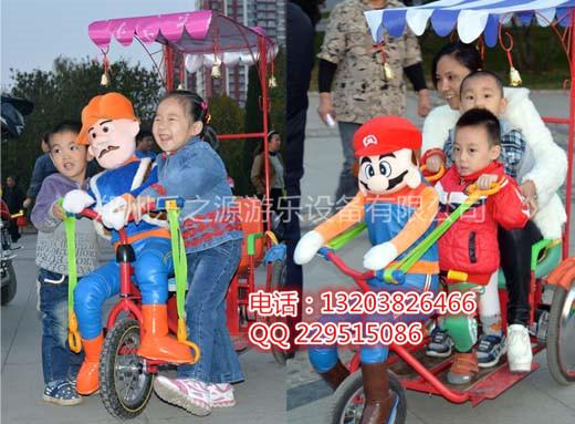 郑州机器人蹬车 机器人拉黄包车