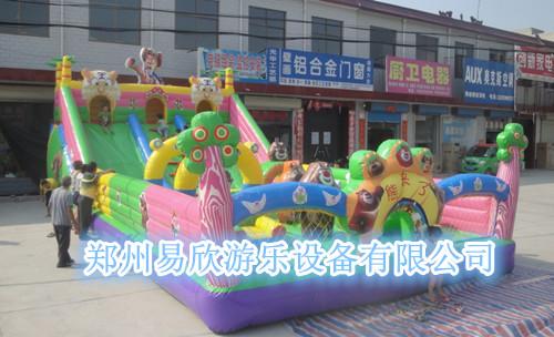 郑州充气玩具厂家 直销夺宝熊兵滑梯 新款熊出没