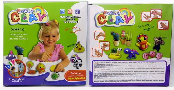 亲子互动玩具彩泥超轻粘土彩泥橡皮泥太空泥儿童玩具幼儿园玩具