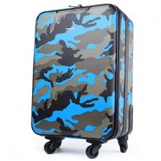 度家蒙新款迷彩撞色男女通用旅行箱