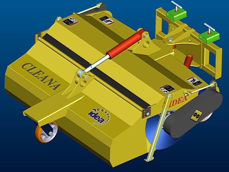 山猫滑移装载机改装前置扫地机