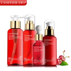 美白乳液 兰菲儿红樱桃化妆品套装面部护肤品补水保湿乳液批发