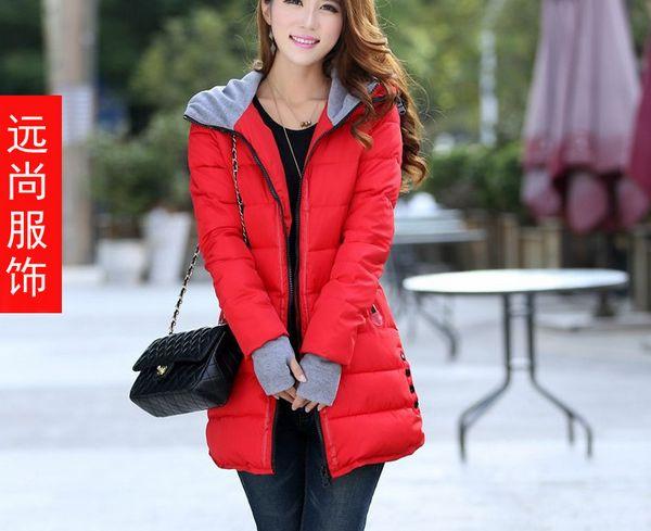 山东烟台在哪里批发最便宜的新款时尚女装连帽翻领羽绒棉服