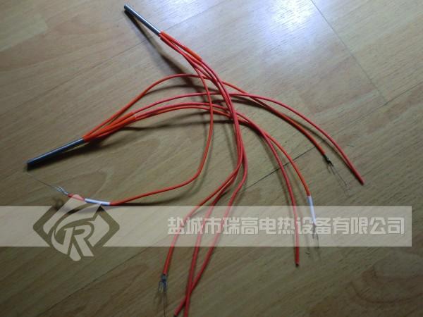 带测温四线单头电热管