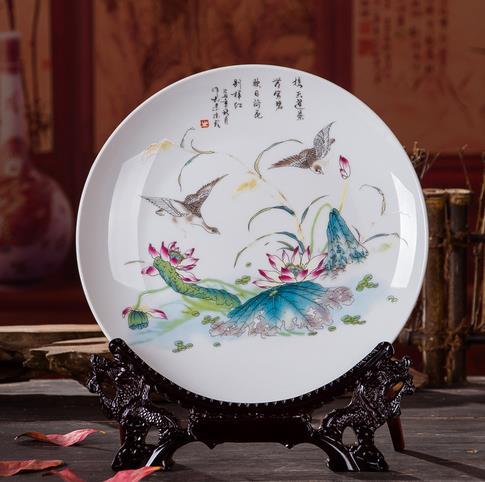 彩瓷装饰盘