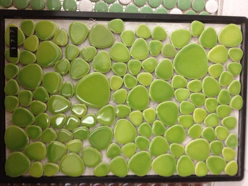 绿色鹅卵石马赛克