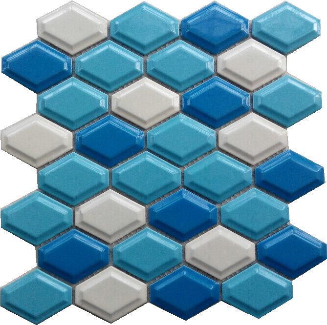 陶瓷菱形马赛克 蛋挞砖