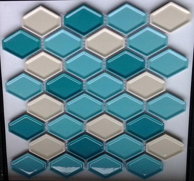陶瓷菱形马赛克 凹面蛋挞砖