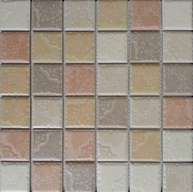 陶瓷仿古凹凸感防滑马赛克 游泳池砖 外墙砖