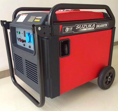 餐车改装5KW静音汽油发电机
