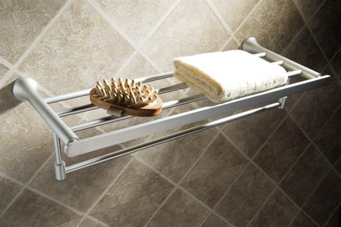 不锈钢浴巾架置物架毛巾杆卫浴挂件厂家浙江温州梅头