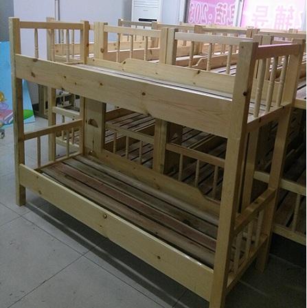 木制上下铺_双层床-金色童年