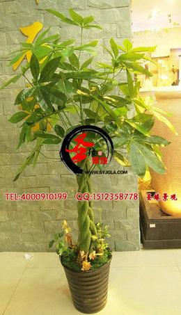 仿真发财树仿真植物仿真绿植假树客厅塑料盆栽落地花艺假绿萝