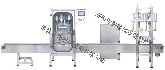机油称重式灌装机-敞口桶灌装压盖一体机SLCZ-6系列