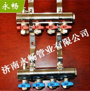 优质铜质地暖分水器