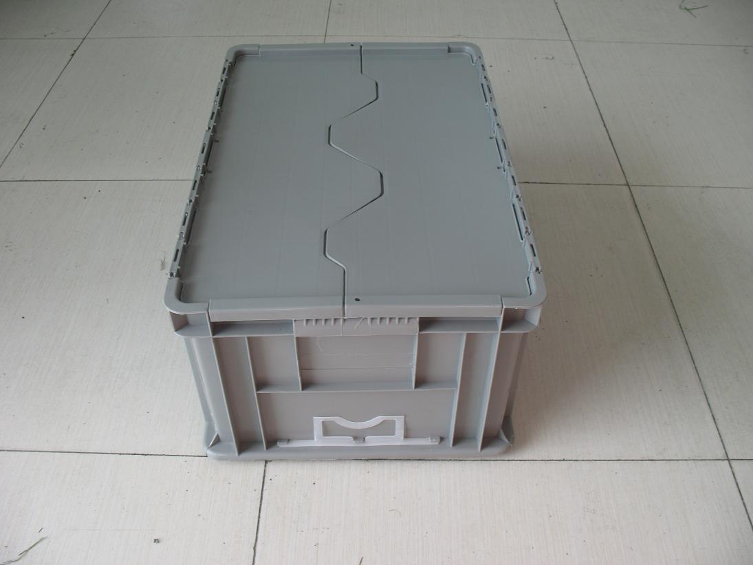 上海塑料物流箱 周转箱翻盖