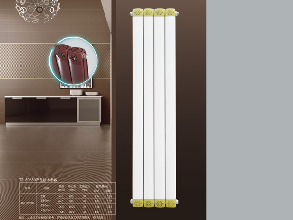 天津散热器公司: 铜铝复合 80x80散热器