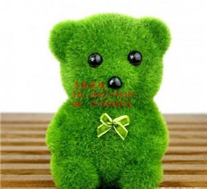 新奇特创意礼品摆饰 仿真草小动物可爱小狗 仿真植物盆景