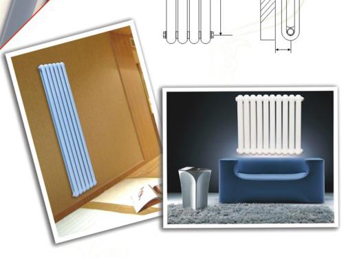 天津暖气片生产厂家:50x25一体圆片头散热器