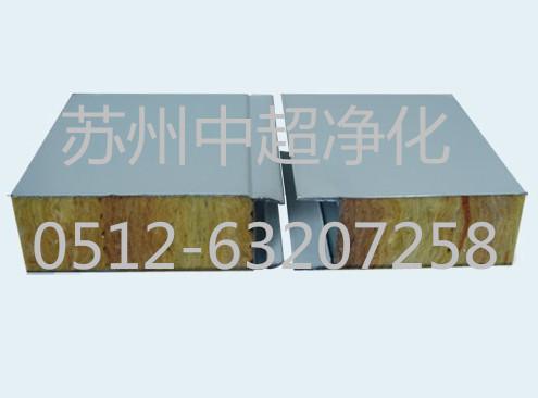 a级防火岩棉板 钢板厚度0.426 岩棉彩钢夹芯板