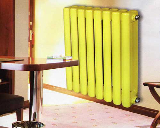 天津钢制散热器:钢制一体片头两柱散热器