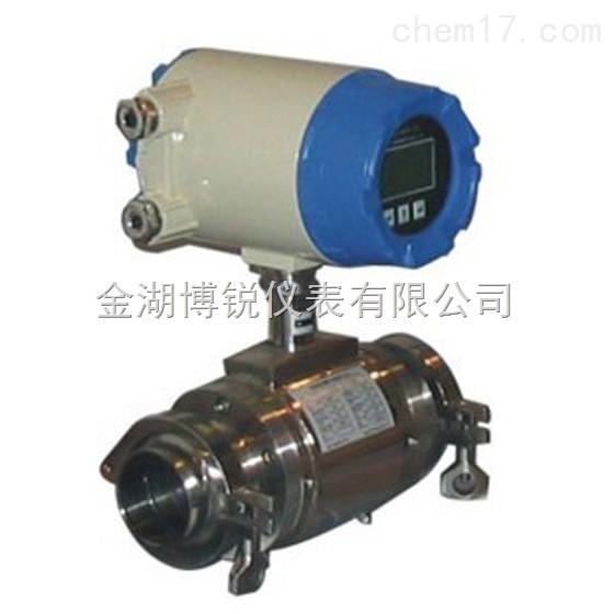 BR-LDE卫生型电磁流量计测量时不受流体的密度、温度、压力、 粘度、和电导率变化的影响,传感器感应电压信号与平均流速呈线性关系,因此测量精度高。 卫生型电磁流量计产品优点: 1.传感器重要的部件-线圈作优化的设计,并通过严格的实流试验,切实保证产品的测量精度 2.信号电极作彻底的静电屏蔽处理,保证小信号不会受线圈的干扰,保证低流速的测量精度 3.