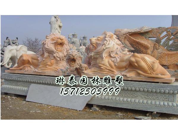 石狮子雕刻价格-曲阳石雕塑-曲阳琳泰园林建筑雕塑