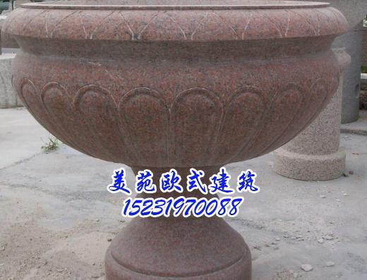 大理石花盆价格-欧式构件-美苑欧式构件