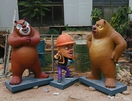 保定熊出没卡通雕塑