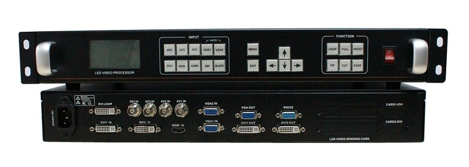 无缝切换 高清全彩LED视频处理器-9路信号输入