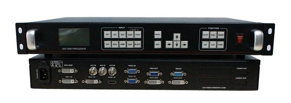 无缝切换 高清全彩LED视频处理器-8路信号输入