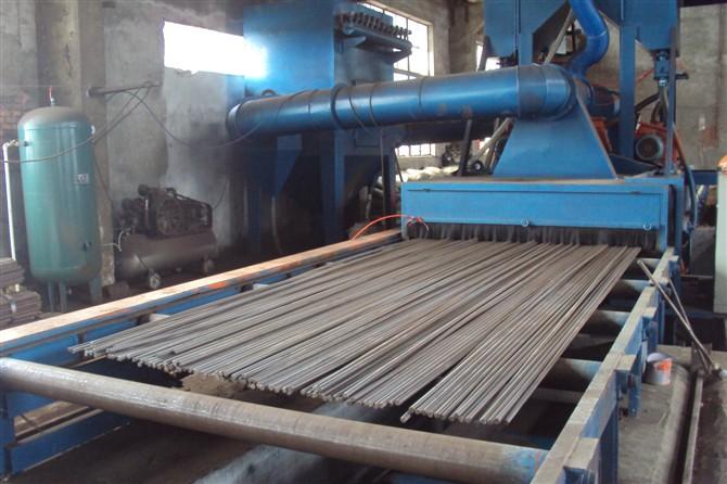 线材表面除锈强化拉丝冷拔圆钢除锈设备设备钢筋圆钢喷砂除锈设备