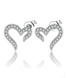 品牌银饰厂家直销 韩版女式耳饰925银耳钉