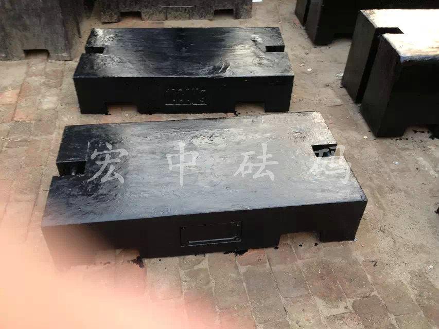 天津宏中铸铁砝码,1吨平板砝码汽车衡校准专用