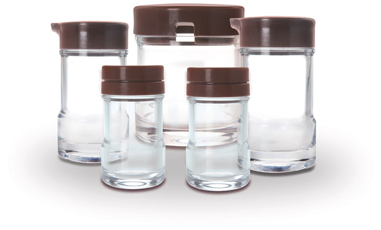 玻璃酱油瓶 醋瓶 胡椒瓶 牙签盒 厨房调味瓶5件套 君子JZ01