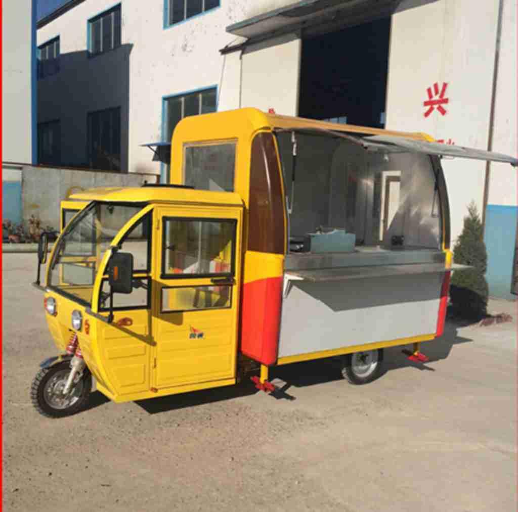 豪华型三轮电动餐饮车,电动小吃车,流动餐饮车